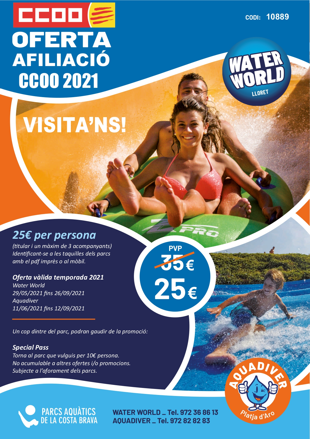 Oferta Parcs Aquatics Estiu 2021